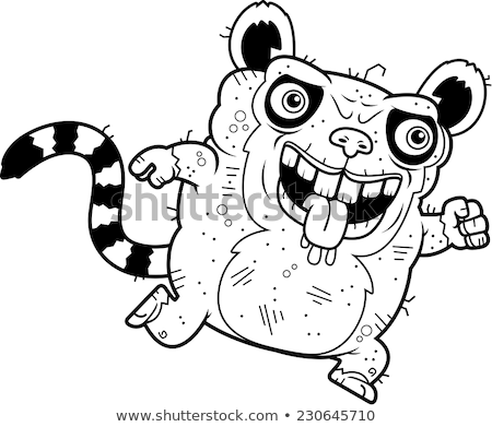 Ugly Lemur Running Stock photo © cthoman