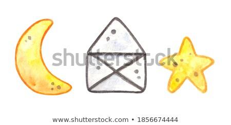 С Днем Рождения баннер плакат наклейку геометрический Сток-фото © FoxysGraphic