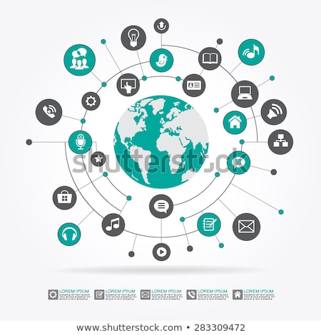 Internet · seguridad · línea · círculo · diseno - foto stock © anna_leni