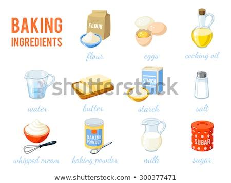 Malzemeler ahşap masa gıda ışık Stok fotoğraf © homydesign