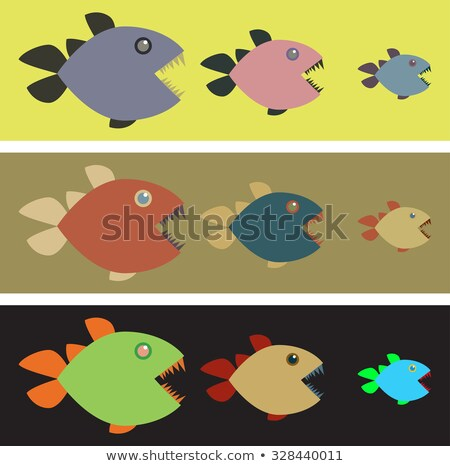 Modelo feio peixe ilustração fundo azul Foto stock © colematt
