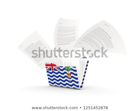 Folder with flag of british indian ocean territory Stock photo © MikhailMishchenko