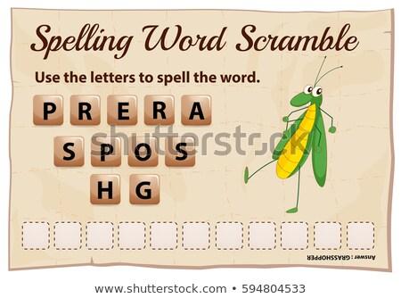 綴り 言葉 ゲーム グラスホッパー 実例 背景 ストックフォト © colematt