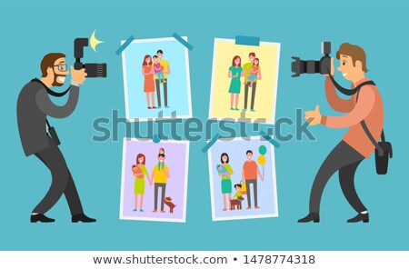 Battle Between Family Photographers on Best Photo Stock photo © robuart
