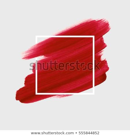 Acrilico vernice bianco rosso design arte Foto d'archivio © Zerbor