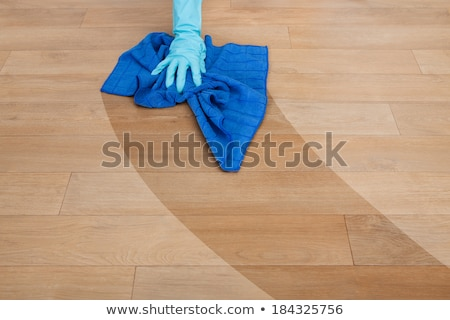 Woman Cleaning Hardwood Floor In Office Stock photo © AndreyPopov