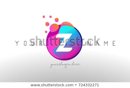 Logotípus levél ikon kék narancs vektor Stock fotó © blaskorizov