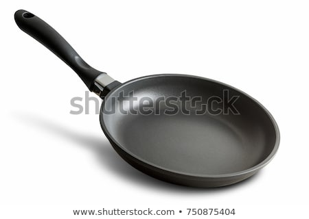 Fekete serpenyő izolált fehér háttér fotó Stock fotó © serg64