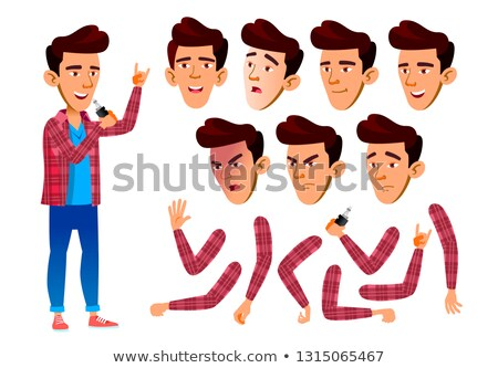 Asian teen jongen vector tiener activiteit Stockfoto © pikepicture