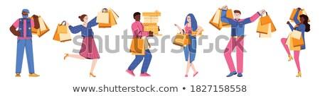 kobieta · koszyka · projektu · sklep · klienta · kupić - zdjęcia stock © robuart