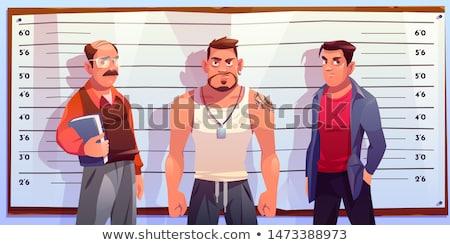 Cartoon criminelle illustration argent sac Photo stock © bennerdesign