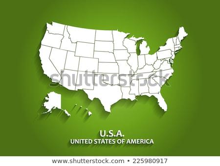 États-Unis Amérique Alaska Hawaii vecteur cartes Photo stock © ConceptCafe