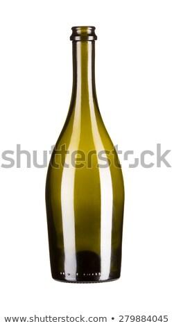 Black Champagne Bottle Open Neck Stock photo © albund