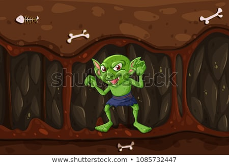 Goblin in the Mystery Cave Stock photo © colematt