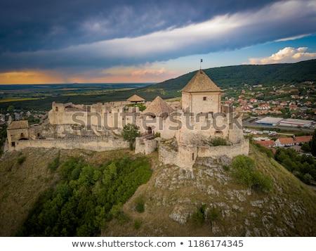 Castelo famoso Hungria europa montanha militar Foto stock © Spectral