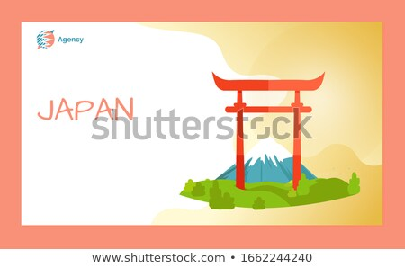 Welkom Japan poort bestemming website vector Stockfoto © robuart