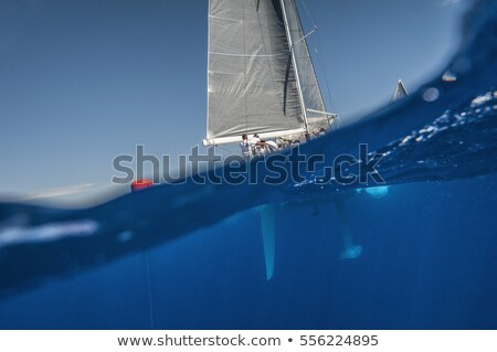 view from boat keel to ocean Stock photo © dolgachov