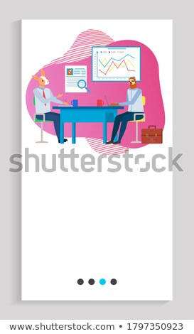 Professionelle Mentoring Hipster Tier Business Vektor Stock foto © robuart