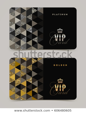 Luxury invitation card - decorative black and gold vector design stock photo © blue-pen