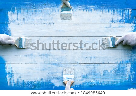 four brushes for painting on a white table Stock photo © mizar_21984