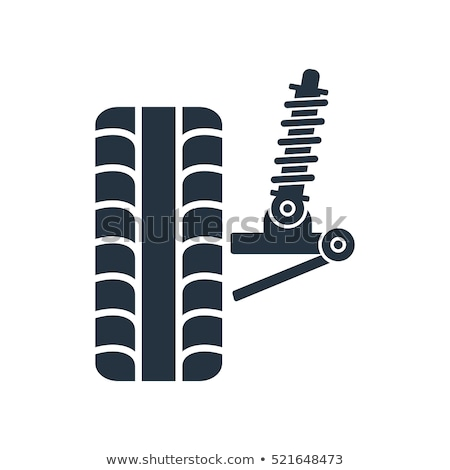 Wheel alignment icon - car suspension service, shock absorber, a Stock photo © gomixer
