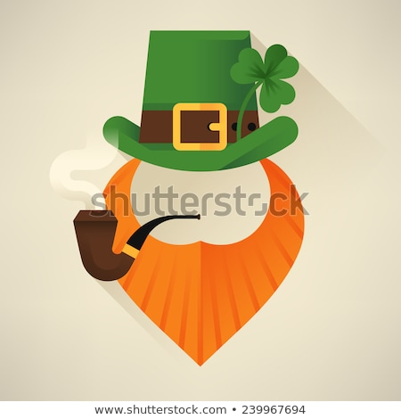 green clover leaf with ribbon st patricks background Stock photo © SArts