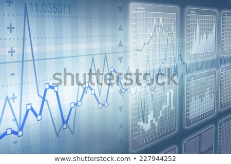 Brokers graphics or chart and index numbers, statistics and analysys Stock photo © robuart