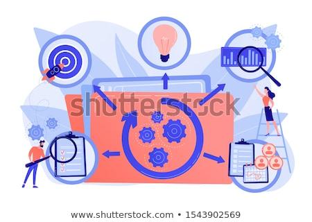 Proyecto vida ciclo resumen vector ilustraciones Foto stock © RAStudio