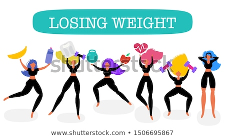 Keeping active and loosing weight Stock photo © Ansonstock