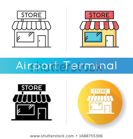 entrance to duty free shop icon vector outline illustration Stock photo © pikepicture