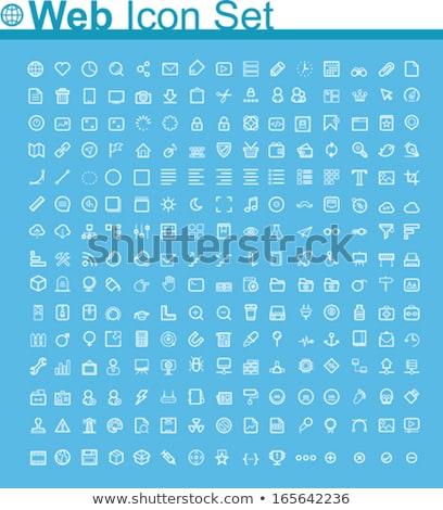 Strona główna wektora ikona odizolowany biały domu Zdjęcia stock © smoki