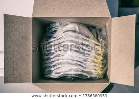 Máscara caixa novo máscaras abrir suprimentos médicos Foto stock © Maridav