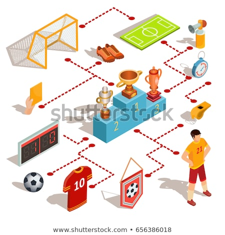 Soccer Scoreboard isometric icon vector illustration Stock photo © pikepicture