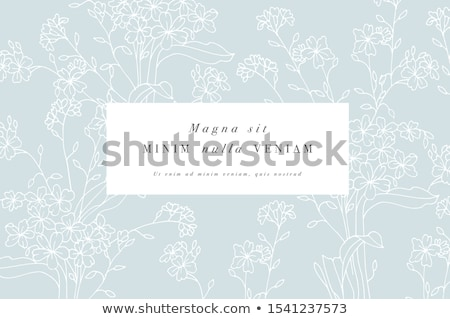 Frühling · floral · dekorativ · Wirbel · Blume · abstrakten - stock foto © kariiika