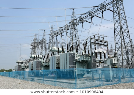big electric power station with cables stock photo © zurijeta