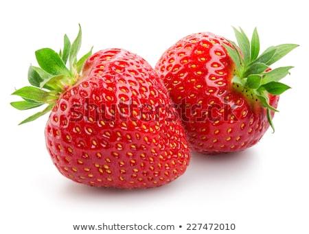 Deux fraises juteuse blanche alimentaire nature Photo stock © Rebirth3d