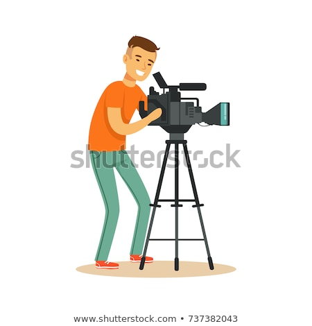 man with camcorder stock photo © paha_l