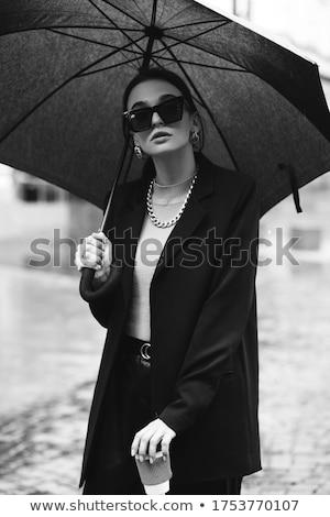 sensual · transe · mulher · sexy · lingerie · preta · dança - foto stock © zurijeta