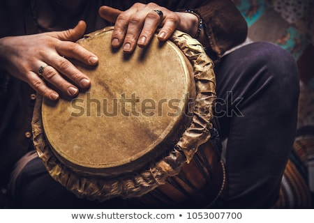 African Djembe With Hands stock photo © mkm3
