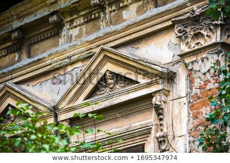 varanda · velho · ortodoxo · mosteiro · Romênia · 2012 - foto stock © smithore