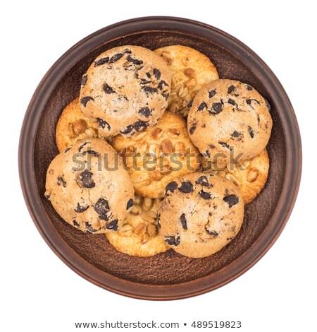 Cookies пластина продовольствие конфеты депрессия Сток-фото © DedMorozz