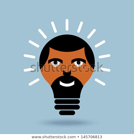 Male Head Silhouette With Light Bulb stock photo © RandallReedPhoto