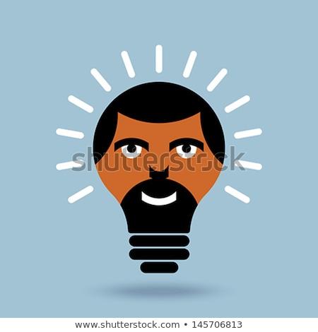 ストックフォト: 男性 · 頭 · シルエット · 電球 · グラフィック