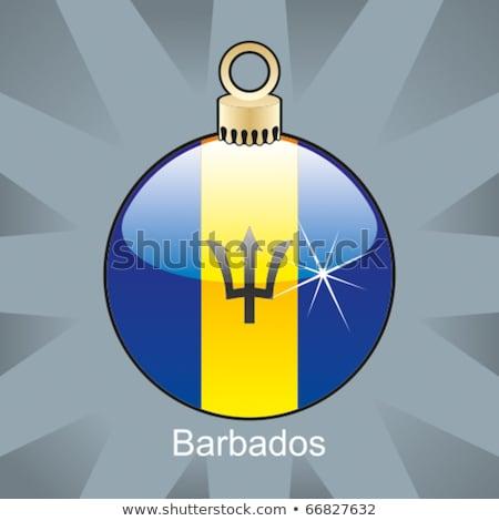 Barbados vlag christmas lamp vorm Stockfoto © PilgrimArtworks