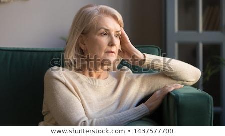 бабушки женщину стороны лице пространстве голову Сток-фото © photography33