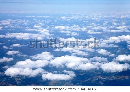 Flying белый облака Ирландия мнение Сток-фото © latent