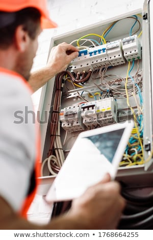 a handyman holding a panel Stock photo © photography33