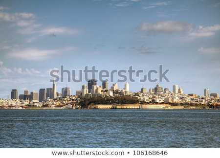Downtown of San Francisco as seen from seaside Stock photo © AndreyKr