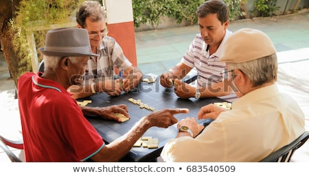 playing dominoes Stock photo © photography33