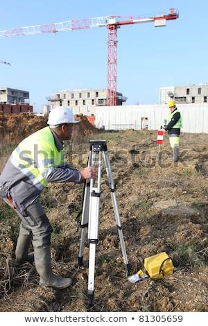 Sivil mühendis okuyucu kâğıt inşaat erkekler Stok fotoğraf © photography33